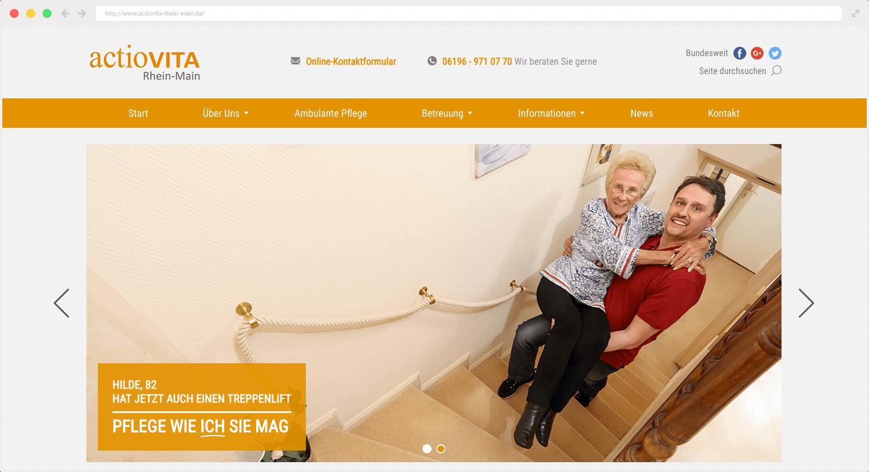 actioVITA Webseite