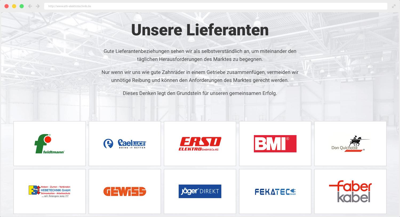 ETH Elektrotechnik Lieferanten