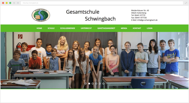 Gesamtschule Schwingbach Webseite