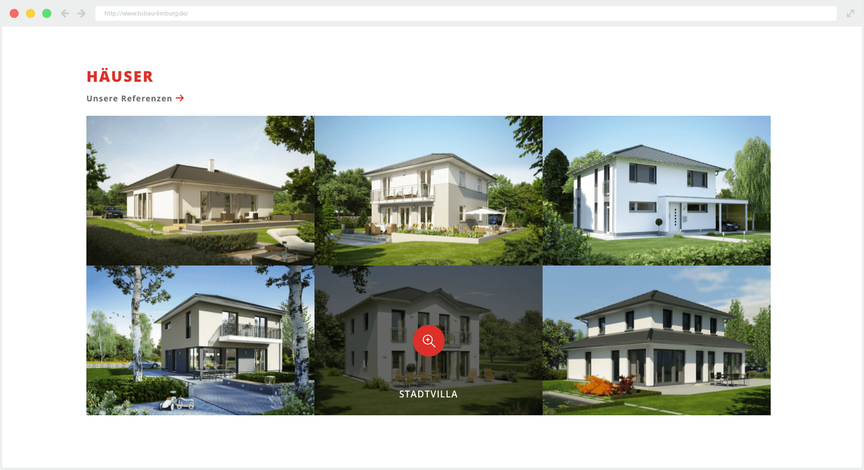 HS Bau Webseite Häuser