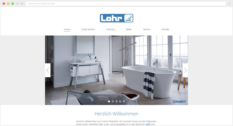 Lohr Sanitär und Heizung Webseite