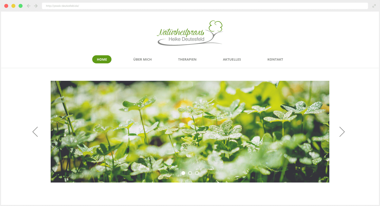 Naturheilpraxis Heike Deutesfeld Webseite