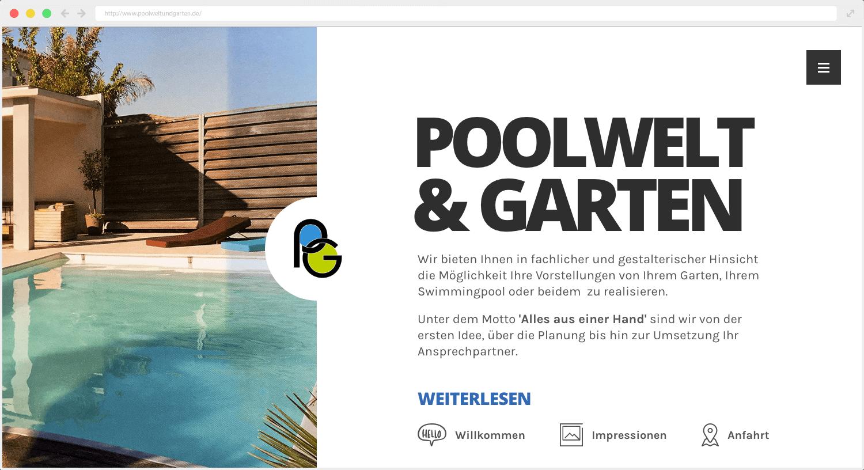 Webseite Poolwelt und Garten UG