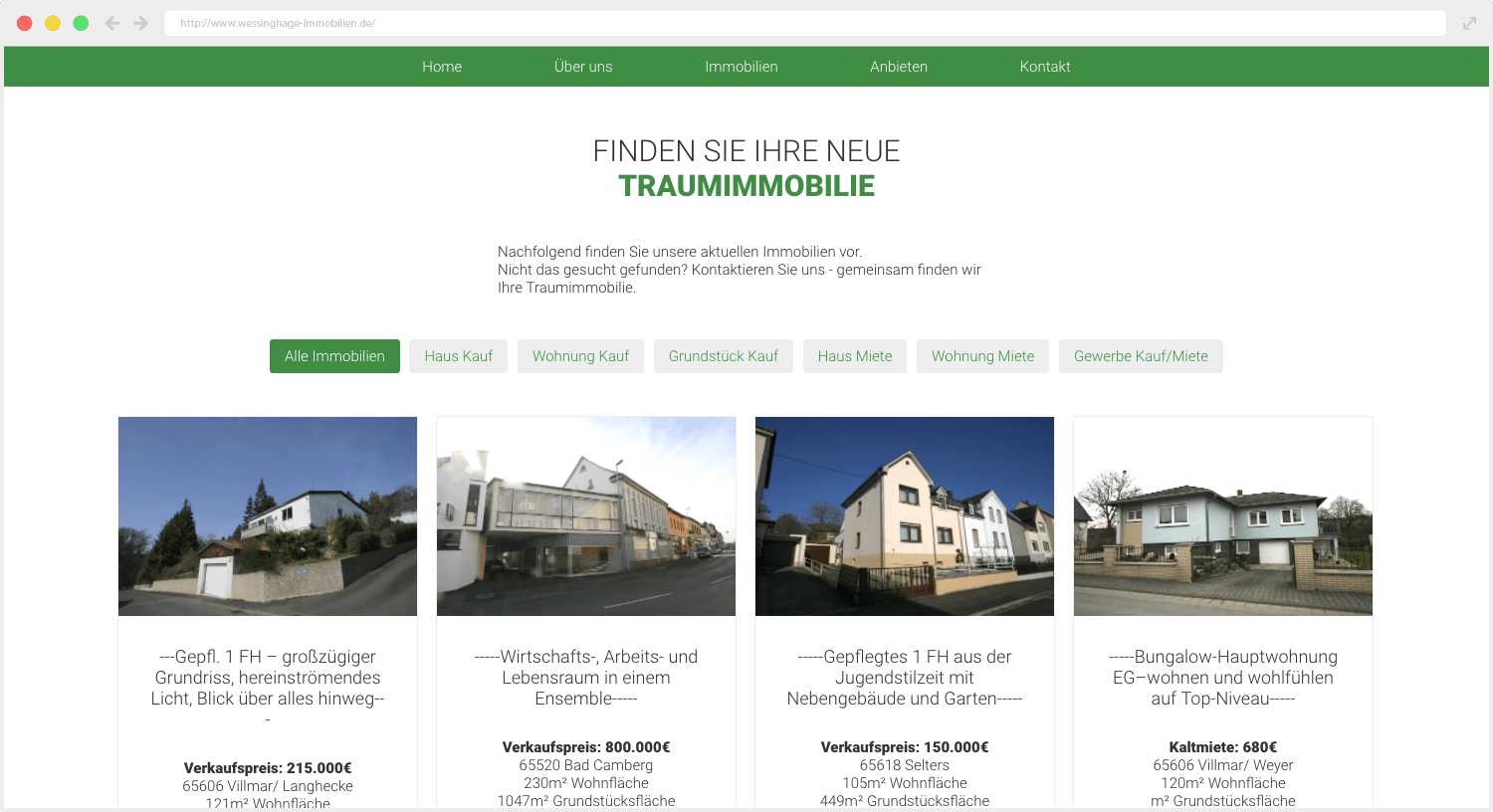 Wessinghage Immobilien Plugin
