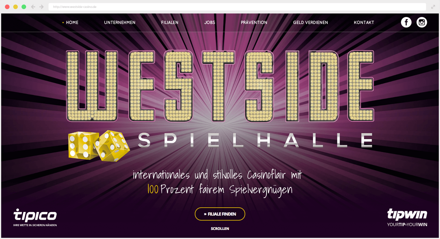 Westside Casino Webseite